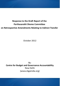 Response to the Draft Report of the Shome Committee on Retrospective Amendments CBGA final