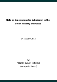 PBIs Submission to the Finance Ministry on Union Budget 2013-14-2 final