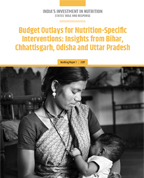 Budget outlays for nutrition-specific interventions